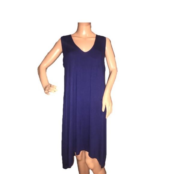 551dab66e6 Alfani High-Low Knit Nightgown Royal Ink